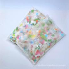 Novedad, nuevo, producto, confeti, almohada, con, papel, resbalón