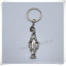 Metal Virgin Mary Fashion Key Chain, Catholic Key Holder, Religious Item (IO-ck109)