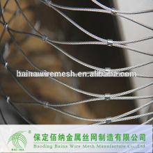 Malha de arame do jardim zoológico / rede de aço inoxidável / rede de pássaros para venda