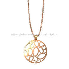 Stainless Steel Pendant for Women, Rose Gold PVD Coating