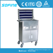 SF-HW3730 hospital ues stainless steel Medical Use trolley