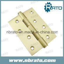 Silent 4bb Wooden Door Brass Hinge