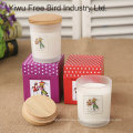 Home Decorative Wax Jar Candle with Lid