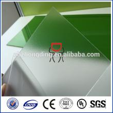 Revêtement UV feuille de polycarbonate givré / feuille de polycarbonate mat
