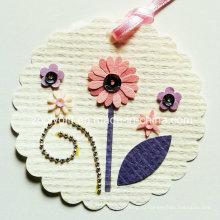 Печать Висячие декоративные теги / ручной работы печатных цветов DIY Paper Craft