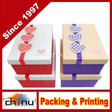 Caja de regalo de papel con la aduana del OEM y en la acción (110384)