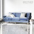 Sofá de asiento de los muebles de la tela de la tapicería / sofá de threeseat