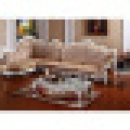 Leather Corner Sofa with Wood Sofa Frame (D805)