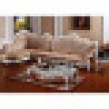 Дерево кожа диван для гостиная мебель (803a в)