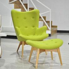 Cadeira de mobiliário de lazer popular e quente vender tecido cadeira do lazer