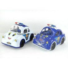 Nouveau jouet de bloc de dessin animé de voiture de police pour les enfants d'âge préscolaire
