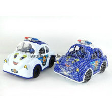 Brinquedo de bloco de desenhos animados do novo carro de polícia para crianças pré-escolares