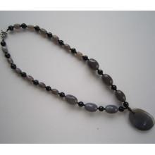 Mode Achat Halskette mit Charme Anhänger