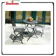 anti-moho acero Mesh bistró de jardín conjunto de malla de acero y muebles de la silla