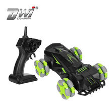 Remote Control Plastic Off-Road Rolling Vehicle, Toy Double Side Driving Stunt Car