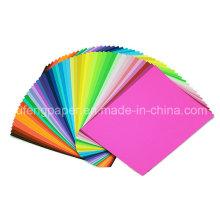 Gute Qualität Unbeschichtetes Holz Zellstoff Farbe Papier Faltpapier Fabrik