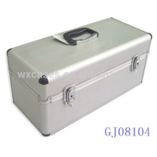 strong and portable aluminum tool box with the handle on the top
