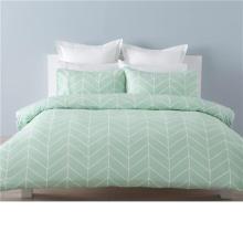 Weiche hellgrüne gewebte Bettwäsche-Sets aus 100% Baumwolle