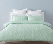 Soft Light Green Woven Bedding Sets 100% algodón