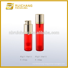 15ml/30ml rotate cosmetic airless bottle,double tube cosmetic airless pump bottle