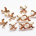 Crossed Studs Golden Plating for Leather