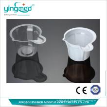 Copo de urina transparente para descarte