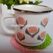 cuisine cookware émail imprimé tasses à boire