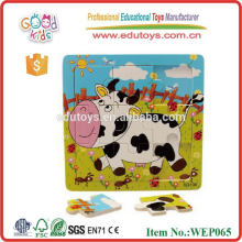 Children Nine Piece Plywood Cheap Jigsaw Puzzle