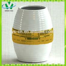 Гальванизированная современная керамическая ваза Gild для домашнего декора