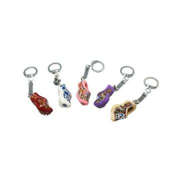 porte-clés de promotion, chaussures en bois porte-clés, porte-clés en bois