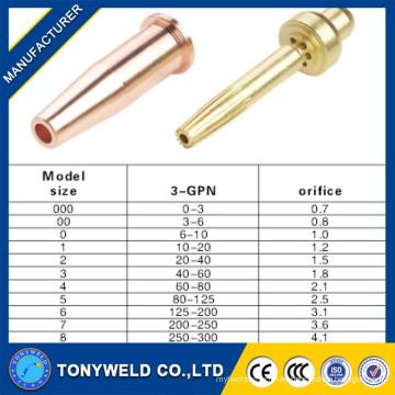 3-GPN Victor cobre de la estufa de gas boquilla para máquina de soldar