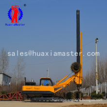 22 meters crawler rotary pile drilling rig with square power rod