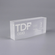 Gepersonaliseerde 3D Clear Acrylic Blocks