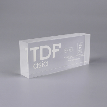 Personliga 3D Clear Acrylic Blocks