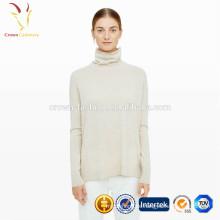 Italienische Kaschmir Grau Tunika Pullover Company