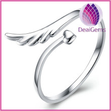 Wholesale Fashion 925 Sterling Silver Wings of Angle Open Ring