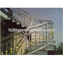 muere escaleras de aluminio de la barandilla de fundición