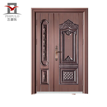 Alibaba new type doors interior latest design villa copper door