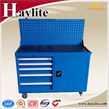 carrito de herramientas de almacenamiento de herramientas de acero recubierto de polvo