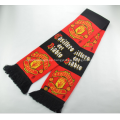 Promotional Double Jacquard Fabric Knitted Scarf