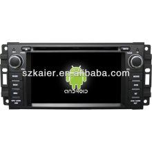Reprodutor de DVD do carro do sistema de Android para Dodge com GPS, Bluetooth, 3G, iPod, jogos, zona dupla, controle de volante