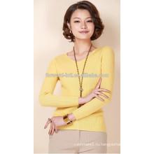 Мода V-образным вырезом кашемировый свитер с длинными рукавами
