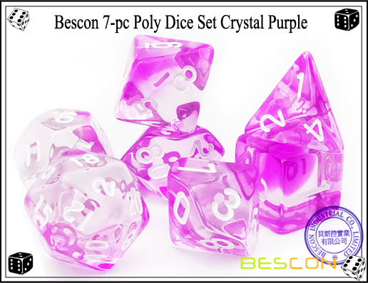 Crystal Purple Dice Set-1
