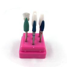 Electric e file nail drill machine manicure 7 pcs/set tungsten carbide ceramic nail drill bit set