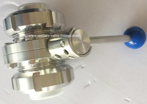 Threaded Butterfly Valve with union