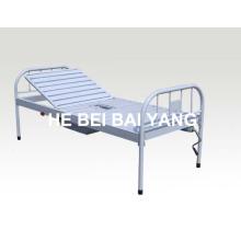 (A-191) Toda la cama de hospital manual de una sola función de plástico-rociada con el pote de la cámara