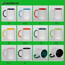 Diretamente Fábrica Sunmeta Hot Selling De Alta Qualidade De Cerâmica Sublimaiton Cor Inside Printing Canecas 11oz