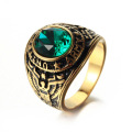Cyrkon Stone US Military Sailor Ring for Men