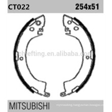 Japan auto spare parts k6664 MB238114 for Mitsubishi Mazda rear cast iron brake shoes