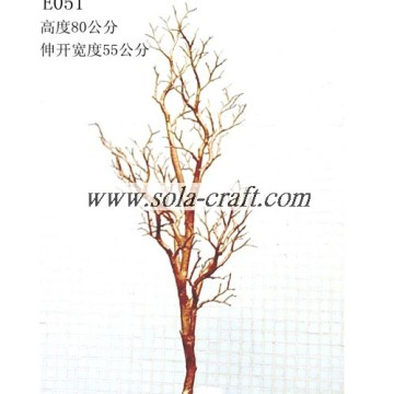2014 New Style Crystal Plastic Wedding Tree With Gold Color 80CM
